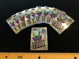 10 count Milwaukee Bucks Prismatic Sticker Sheet - 2.25x3.25
