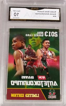 $100 2013 GIANNIS ANTETOKOUNMPO  GMA GRADED GEM 10 BUCKS FIR