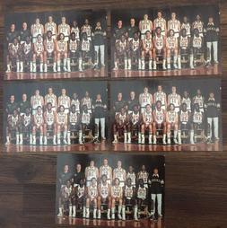 1974-75 Lot of 5 NBA Milwaukee BUCKS Team Postcards  Unused