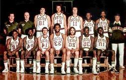 1974-75 Milwaukee Bucks Team Postcard w/Kareem Abdul Jabbar