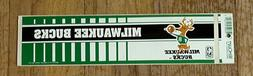 1980's OLD LOGO MILWAUKEE BUCKS BUMPER STICKER Unsold Stock