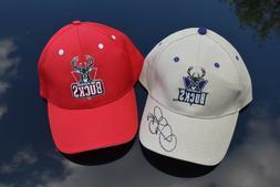 2 Milwaukee Bucks baseball caps