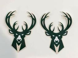 2x Milwaukee Bucks Car Bumper Laptop Wall  Home Décor Vinyl