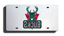Bucks License Plate Tag in Silver