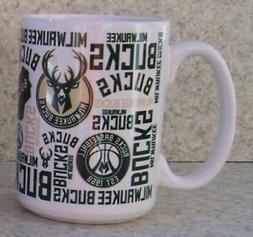 Coffee Mug Sports NBA Milwaukee Bucks NEW 15 ounce cup with