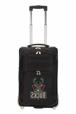 Denco NBA Milwaukee Bucks In-Line Skate Wheel Carry-On Lugga