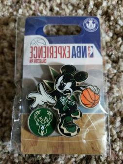 Disney World Nba experience Milwaukee Bucks Mickey Pin.