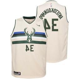 Giannis Antetokounmpo Cream Milwaukee Bucks Mens Basketball