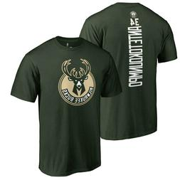 Giannis Antetokounmpo Milwaukee Bucks Backer Name & Number T