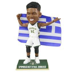 Giannis Antetokounmpo Milwaukee Bucks Greece Flag Bobblehead