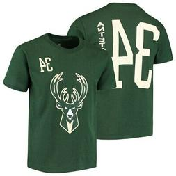 Giannis Antetokounmpo Milwaukee Bucks Youth Name & Number T-