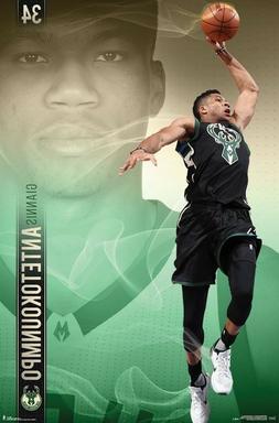 GIANNIS - MILWAUKEE BUCKS POSTER - 22x34 NBA BASKETBALL 1566