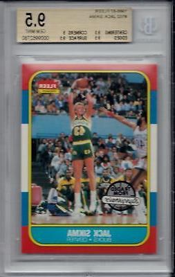 JACK SIKMA 1986-87 Fleer #102 Graded BGS 9.5 GEM MINT Milwau
