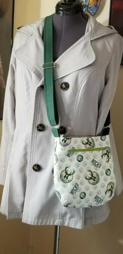 Milwaukee Bucks Basketball Cross Body Tote Purse Bag Handbag