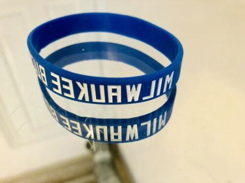 milwaukee bucks silicone wristband bracelet blue sga