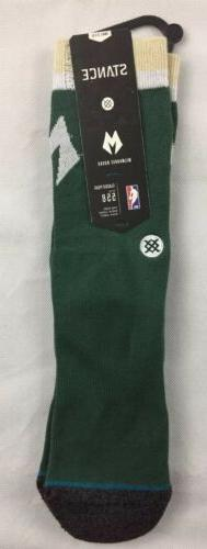 milwaukee bucks small stance socks 3 5