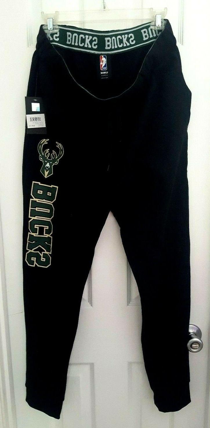 milwaukee bucks sweatpants size large joggers stretchy