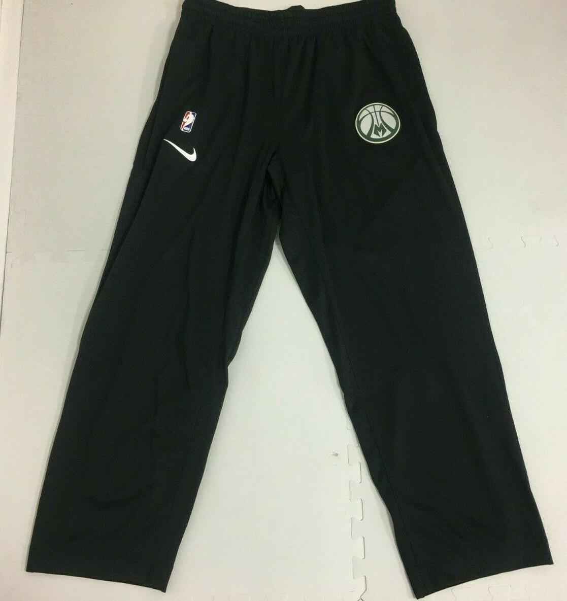 milwaukee bucks team issued showtime pants black