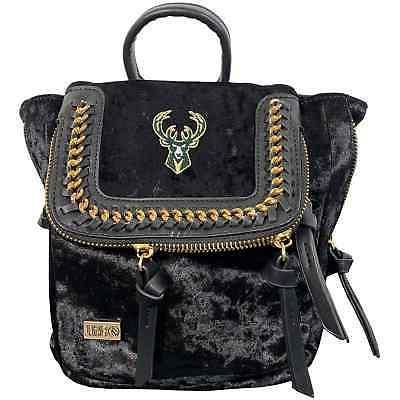 milwaukee bucks velvet mini backpack