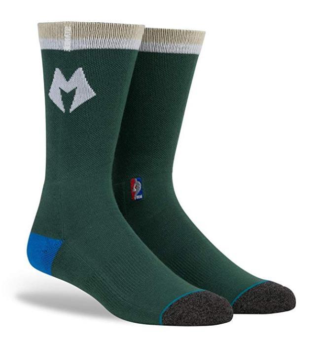 nba arena logo socks milwaukee bucks men