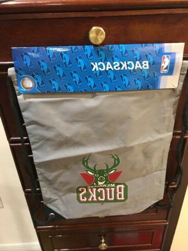 nba milwaukee bucks drawstring backpack new by