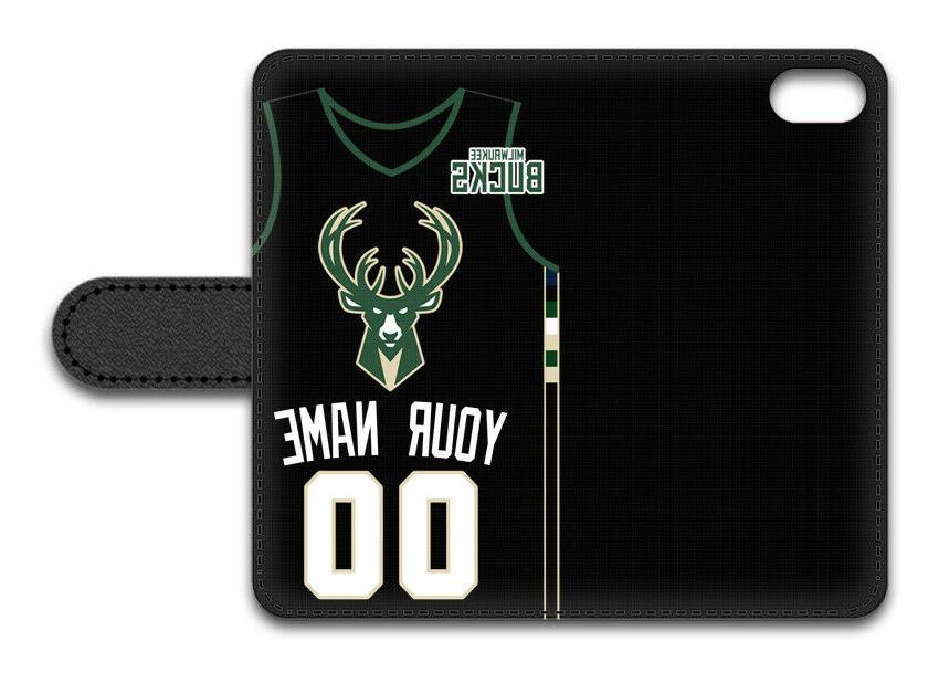 NBA Milwaukee Personalized Name/Number iPhone Case