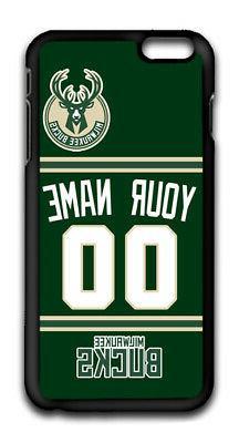 NBA Milwaukee Bucks Personalized Name/Number iPhone iPod Cas