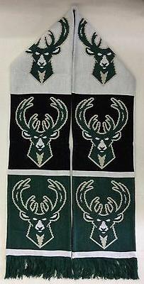 NBA Milwaukee Bucks Adidas Winter Knit Fringe Scarf Style #S