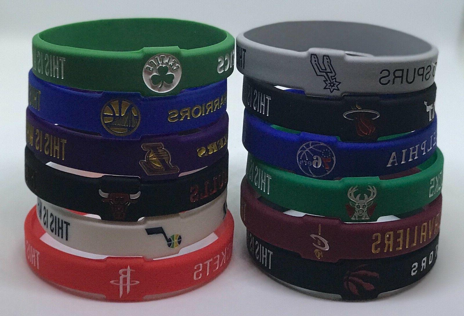 nba silicone wristband bracelet cavs warriors celtics