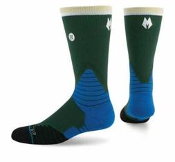 Stance Mens NBA Fusion Basketball Socks 559 Crew Milwaukee B