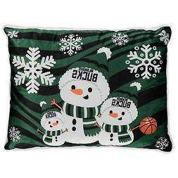 Milwaukee Bucks 20'' x 26'' Holiday Snowman Bed Pillow