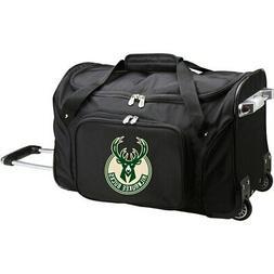 "Milwaukee Bucks 22"" 2-Wheeled Duffel Bag - Black"