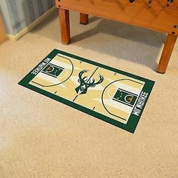 "Milwaukee Bucks 24"" x 44"" Basketball Court Runner Area Rug F"
