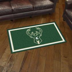 Milwaukee Bucks 3' X 5' Decorative Ultra Plush Carpet Area R