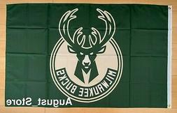 Milwaukee Bucks 3x5 ft Flag NBA