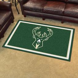 Milwaukee Bucks 4' X 6' Decorative Ultra Plush Carpet Area R