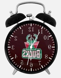 "Milwaukee Bucks Alarm Desk Clock 3.75"" Home or Office Decor"