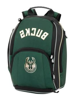 Milwaukee Bucks NBA Backpack Organized 3 Zippers - School /