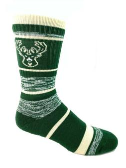 Milwaukee Bucks Basketball 504 RMC Stripe Deuce Crew Socks