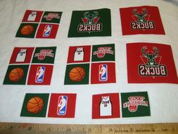 Milwaukee Bucks Basketball NBA Cotton Fabric Iron-On Patches