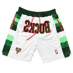 Milwaukee Bucks Basketball Shorts with Pockets