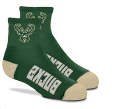 Milwaukee Bucks Basketball Youth Team Quarter Logo Socks