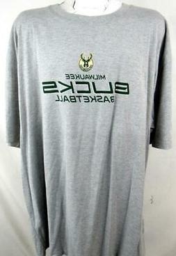 Milwaukee Bucks Big Mens 3XL 4XL or 3XT Screened Basketball