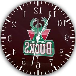 Milwaukee Bucks Frameless Borderless Wall Clock Nice For Gif