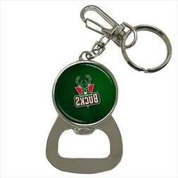 Milwaukee Bucks Bottle Opener Keychain - NBA Basketball