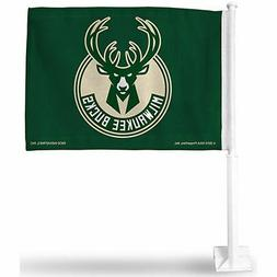 """Milwaukee Bucks 12"""" x 15"""" Car Flag"""
