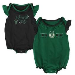 Milwaukee Bucks Creeper 2 Pack Homecoming Bodysuit Set