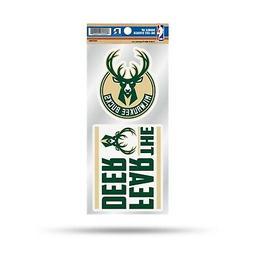 Milwaukee Bucks Double UP 2-Pack Decal Sheet Sticker Auto Ho