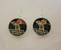 Milwaukee Bucks Earrings made from Basketball Trading Cards
