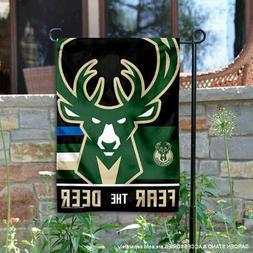Milwaukee Bucks Fear the Dear Garden Yard Banner Flag